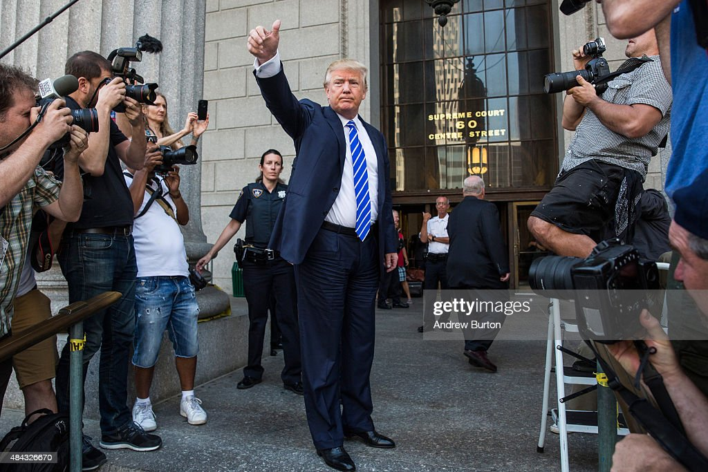 Donald Trump Reports For Jury Duty In Manhattan : News Photo