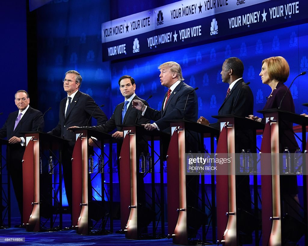 US-VOTE-REPUBLICANS-DEBATE : News Photo