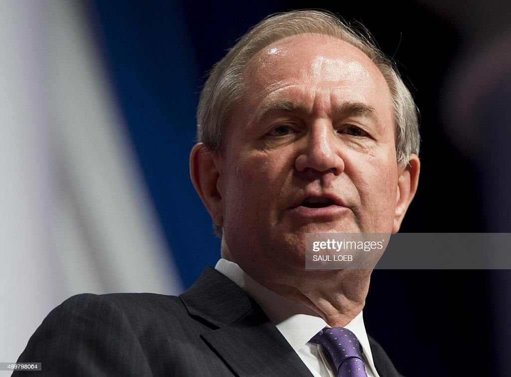 Republican Presidential hopeful Jim Gilmore speaks during the 2016 Republican Jewish Coalition Presidential Candidates Forum in Washington, DC, December 3, 2015.