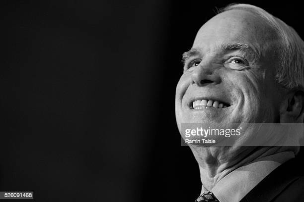Republican presidential hopeful Senator John McCain at a campaign rally at Grand Central Station in New York City.
