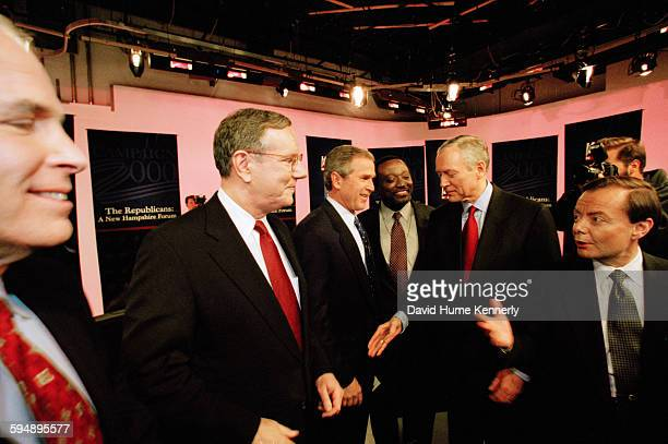 a look at the platforms of george w bush and steve forbes