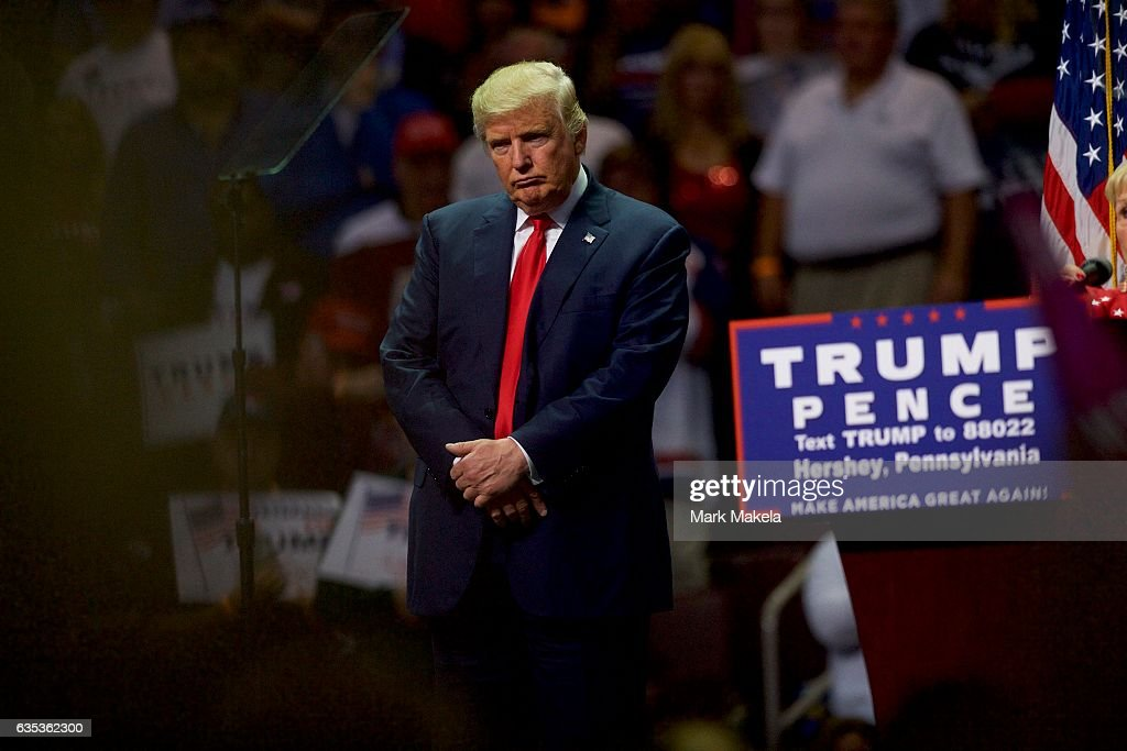 Trump Holds Campaign Event in Hershey, Pennsylvania : News Photo