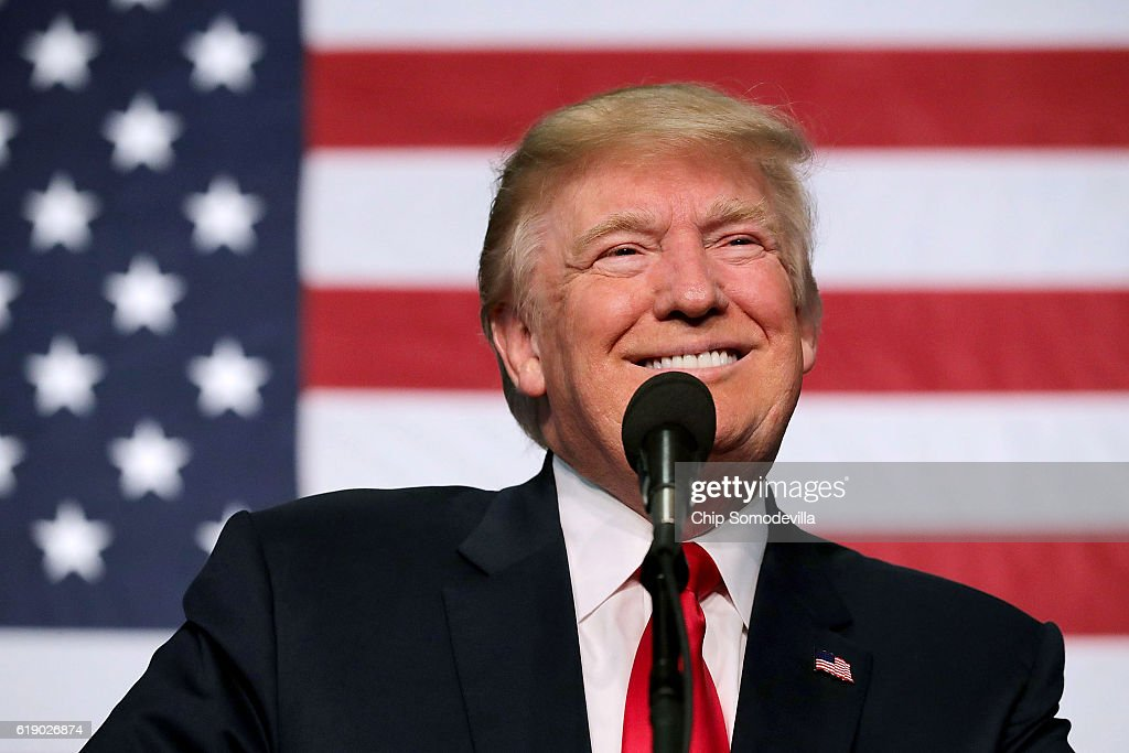 Donald Trump Campaigns In Golden, Colorado : News Photo