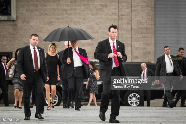 Republican presidential nominee Donald Trump and Florida Attorney General Pam Bondi head to meet supporters organizing voter registration and Trump...