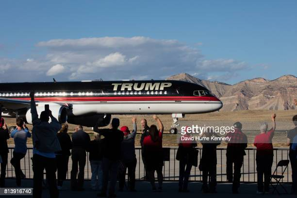Republican Presidential Nominee Donald Trump arriving at a rally Grand Junction Colorado October 18 2016