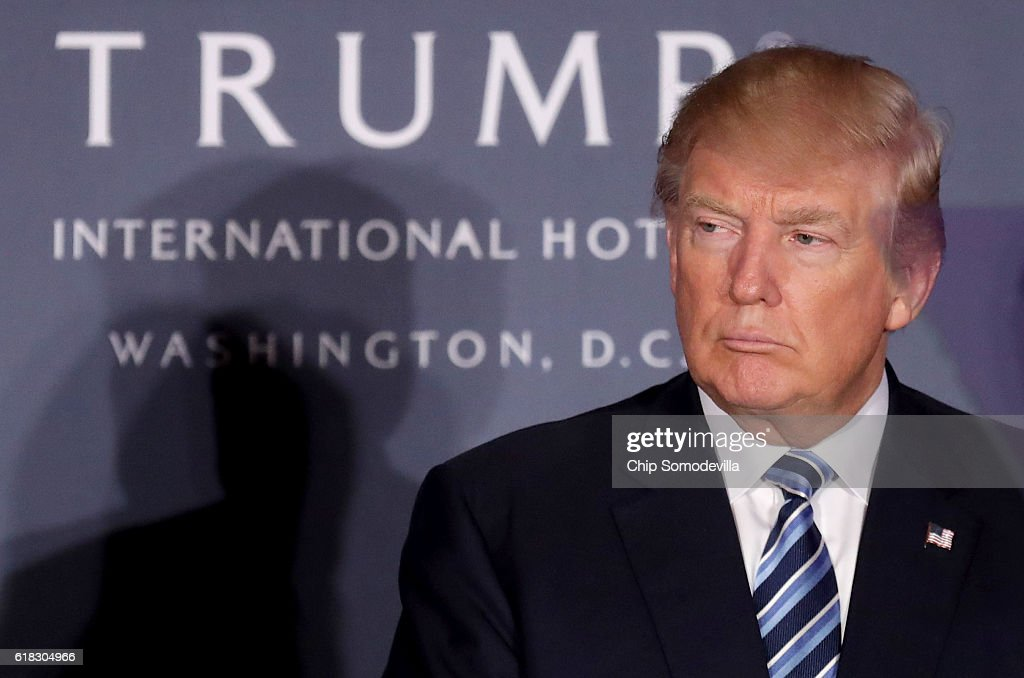 Donald Trump Holds Ribbon Cutting Ceremony For The Trump International Hotel In Washington, D.C. : News Photo