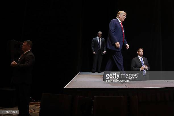 Republican presidential nominee Donald Trump holds a campaign rally at The Venetian Las Vegas October 30 2016 in Las Vegas Nevada With just nine days...