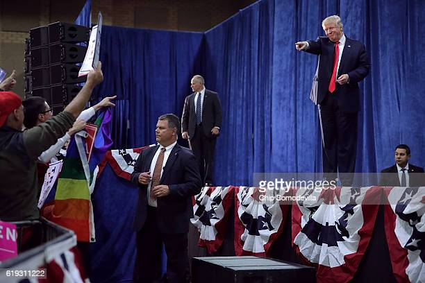 Republican presidential nominee Donald Trump holds a campaign rally at the Bank of Colorado Arena on the campus of University of Northern Colorado...