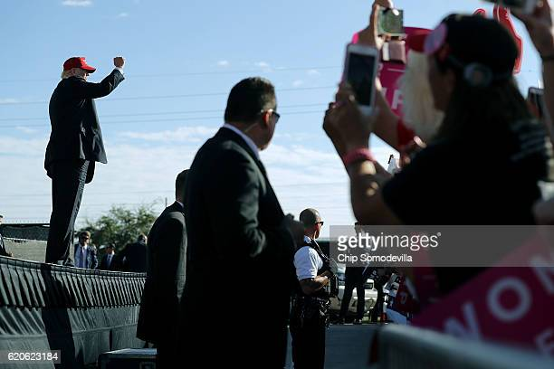 Republican presidential nominee Donald Trump holds a campaign rally the Orlando Amphitheater located at Central Florida Fairgrounds November 2, 2016...