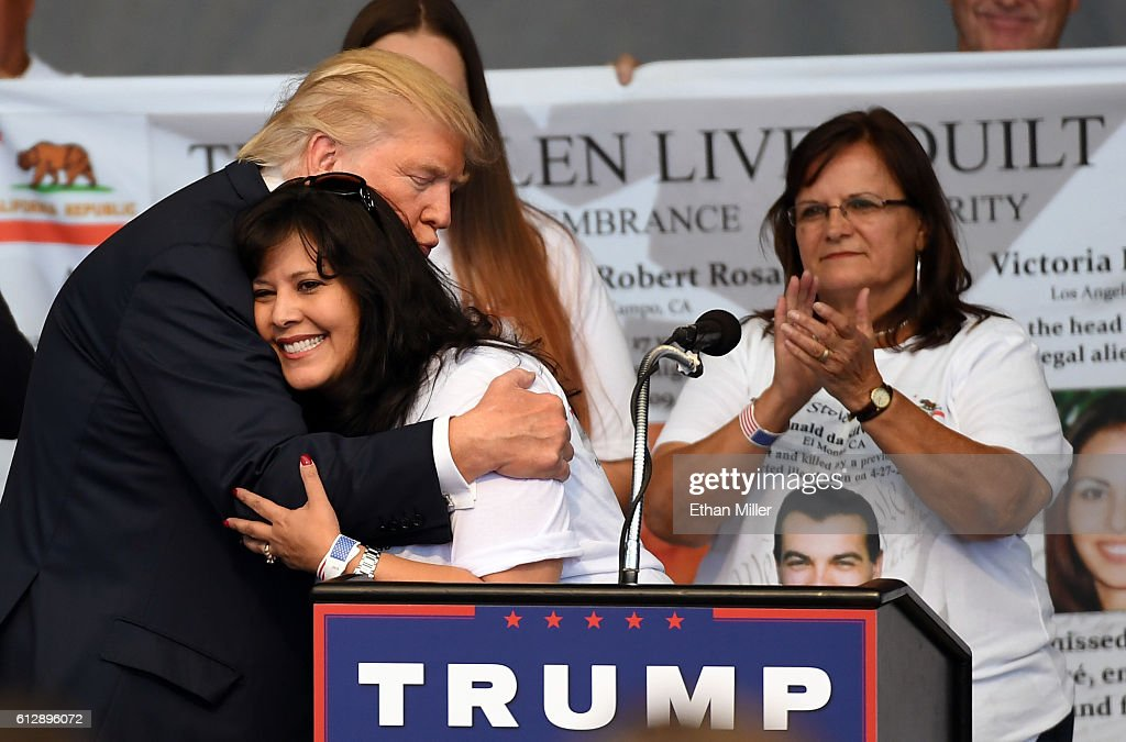 Donald Trump Holds Campaign Rally In Nevada : News Photo