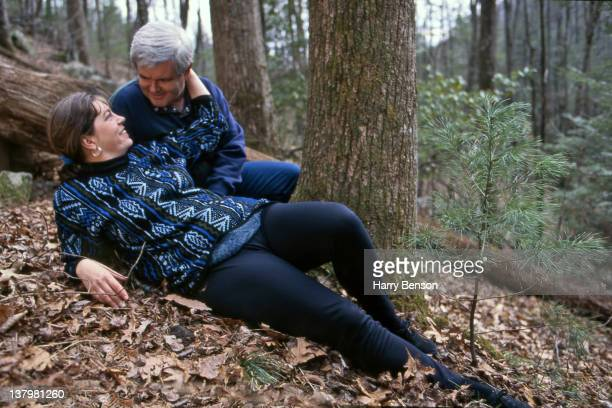Republican presidential nominee Newt Gingrich and secondwife Marianne Ginther are photographed for People Magazine in 1995 in Marietta Georgia