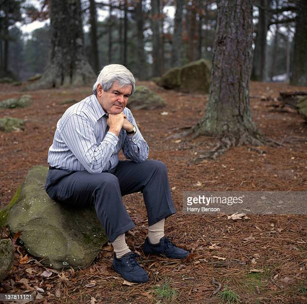 Republican presidential nominee Newt Gingrich is photographed for People Magazine in 1995 in Marietta Georgia