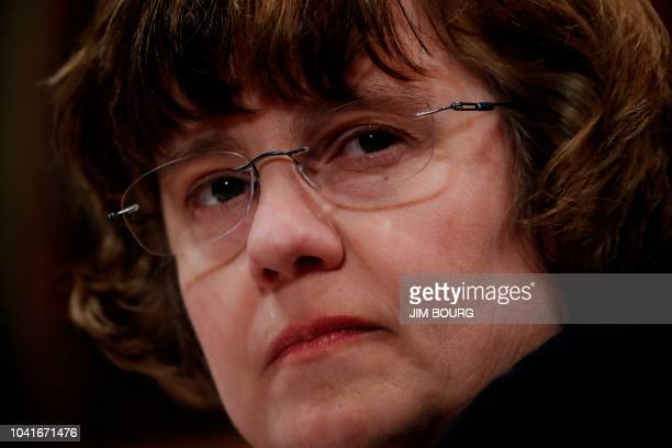 Republican prosecutor Rachel Mitchell who will be questioning Kavanaugh accuser Christine Blasey Ford is seen during a Senate Judiciary Committee...