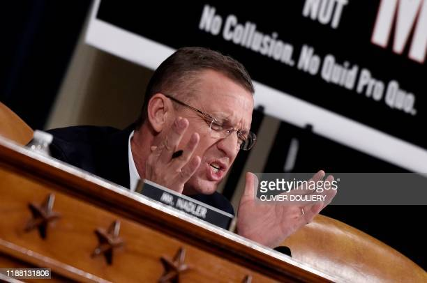 Republican Ranking Member Doug Collins speaks as the US House Committee on the Judiciary marks-up House Resolution 755, Articles of Impeachment...