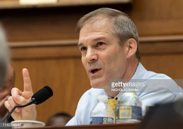 US Republican Representative from Ohio Jim Jordan speaks during a markup of a resolution supporting the committee report on Attorney General William...