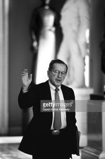 Republican Sen Ted Stevens of Alaska in the hallway of the US Capitol Building during a break from the Senate Impeachment Trial of President Bill...