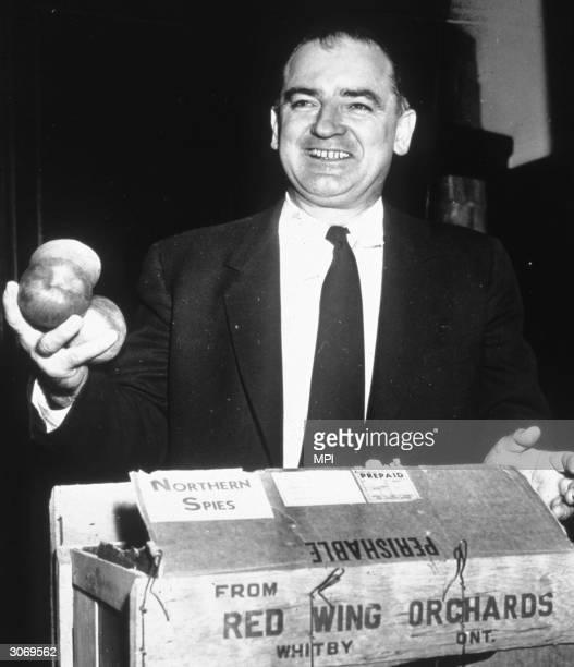 Republican senator and notorious anti-communist campaigner Joseph McCarthy .