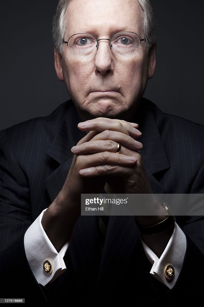 Republican Senator from Kentucky Mitch McConnell photographed for Time Magazine - NY on May 27, 2011 in Washington, DC. PUBLISHED