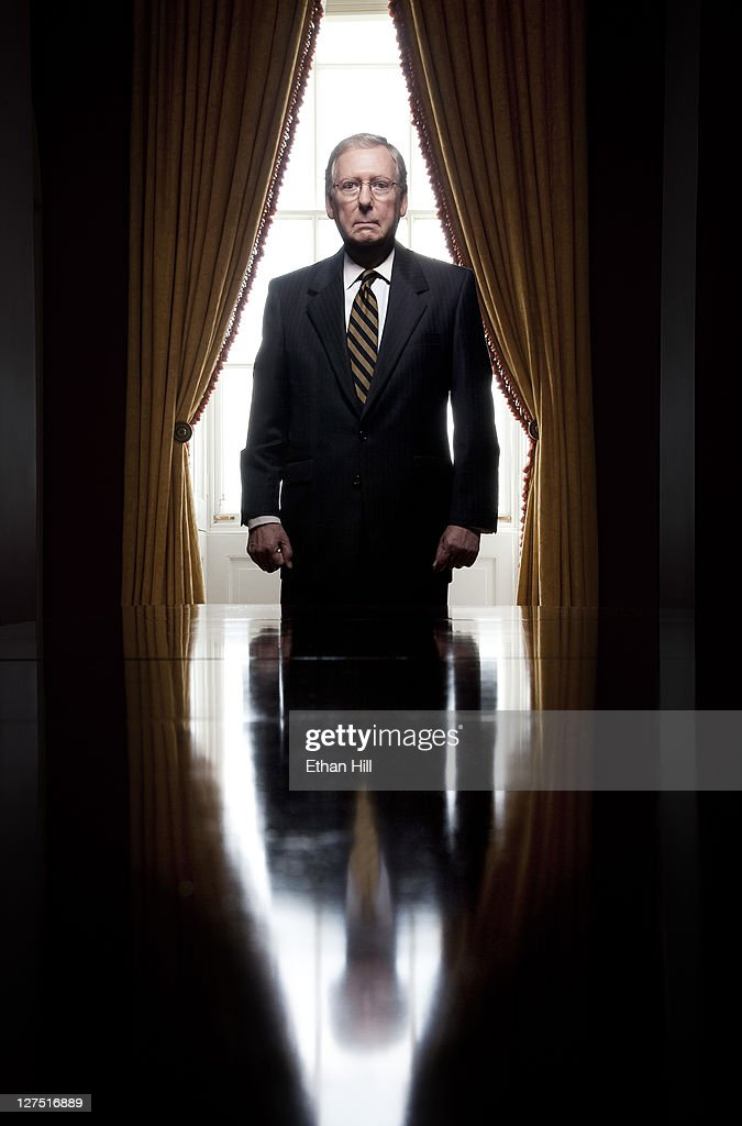Republican Senator from Kentucky Mitch McConnell photographed for Time Magazine - NY on May 27, 2011 in Washington, DC.