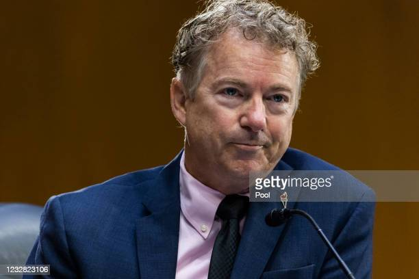Republican Senator from Kentucky Rand Paul questions Dr. Anthony Fauci , Director of the National Institute of Allergy and Infectious Diseases at the...