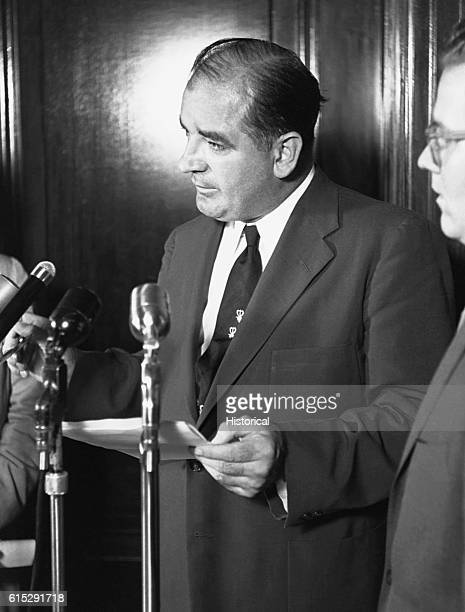 """Republican Senator Joseph McCarthy led a campaign to put prominent government officials and others on trial for alleged """"subversive activities"""" and..."""