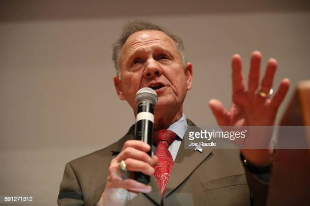 Republican Senatorial candidate Roy Moore speaks about the race against his Democratic opponent Doug Jones is too close and there will be a recount...