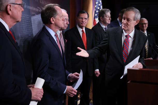 DC: Senate Republicans Discuss Biden's IRS Proposals