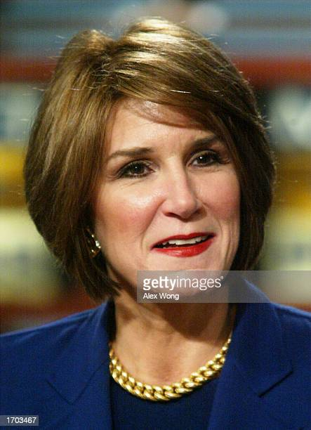 Republican strategist Mary Matalin speaks during a taping of a roundtable discussion on NBC's Meet the Press December 29 2002 at the NBC studios in...