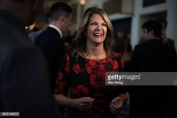 Republican US Senate candidate for Arizona Kelli Ward attends CPAC 2018 February 22 2018 in National Harbor Maryland The American Conservative Union...