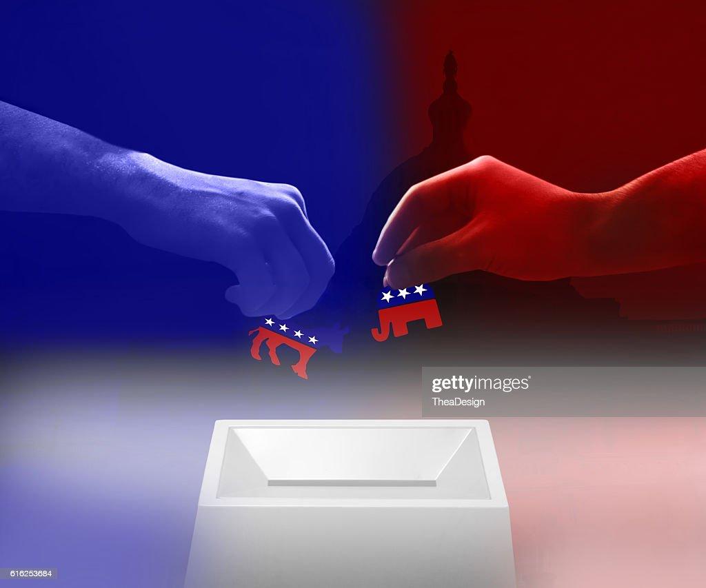 Republican vs Democrat : Stock Photo