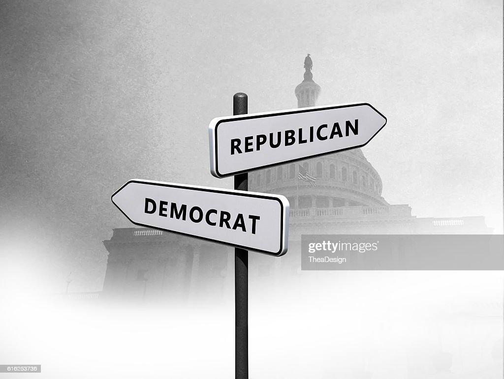 Republicana vs democratas : Foto de stock