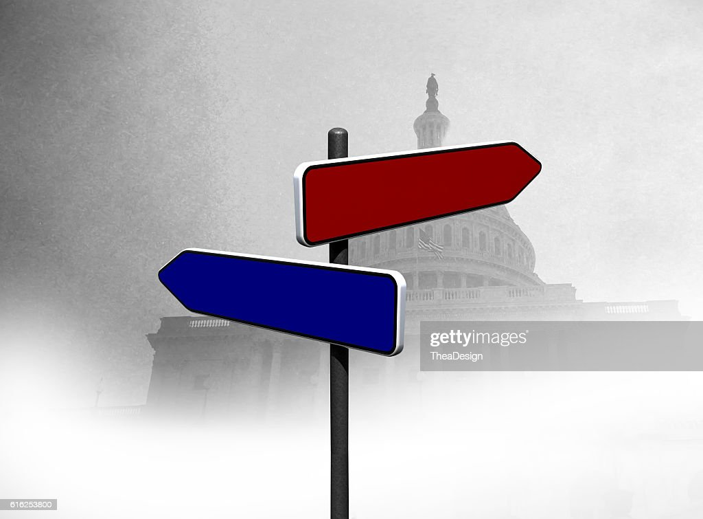 Republican vs Democrat : Stock Photo