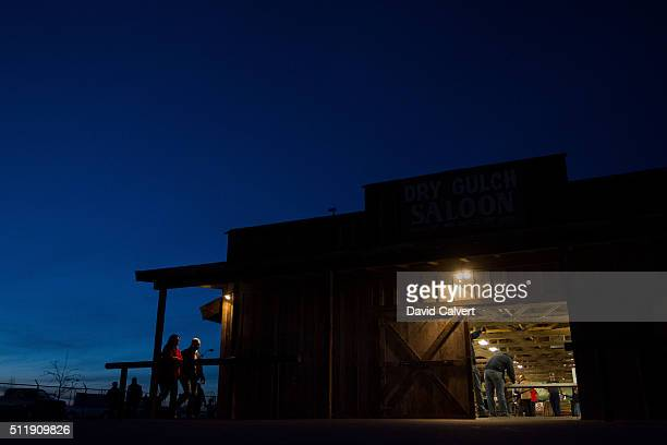 Republicans participate in the GOP caucus at the Churchill County Fairgrounds on February 23 2016 in Fallon Nevada The remaining Republican...