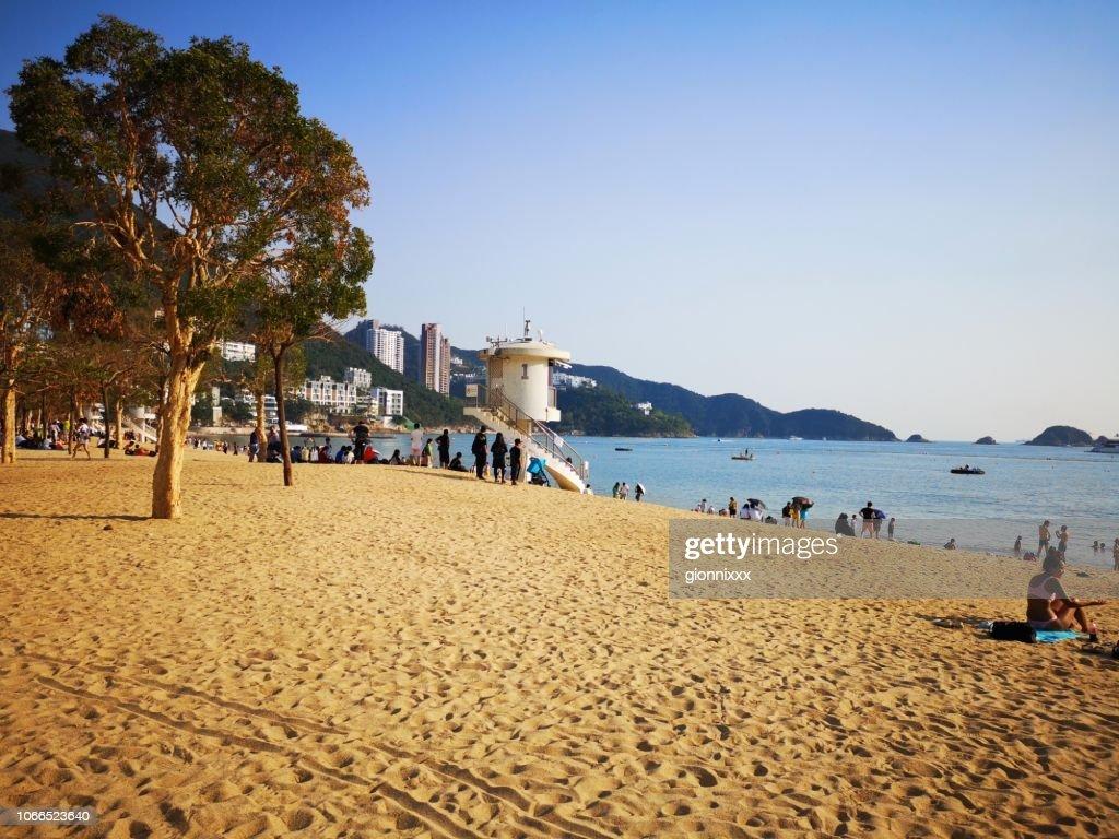 Repulse Bay beach, Hong Kong : Stock Photo
