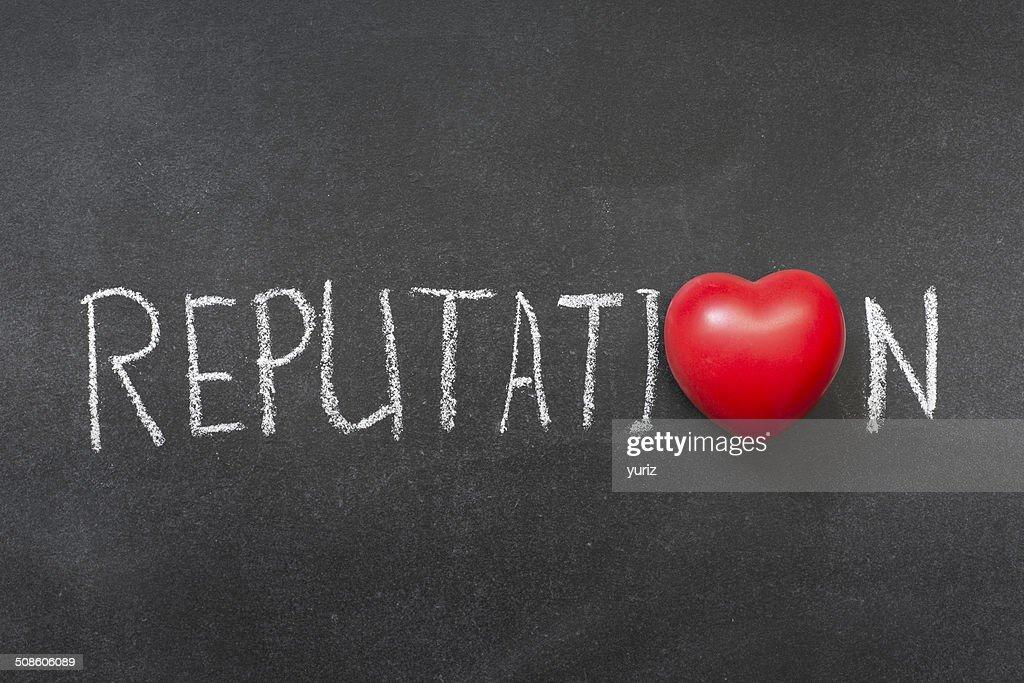 A reputação : Foto de stock