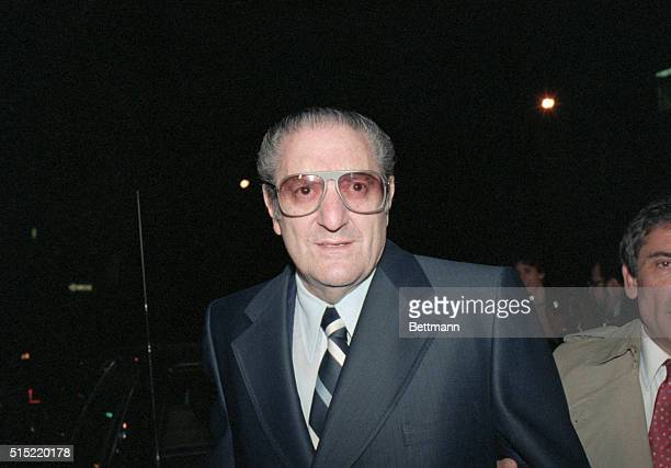 Reputed Mafia bosses Paul Castellano and Anthony Salerno leave Federal Court after posting $2 million bail each 2/26 The 3 other New York City Mafia...