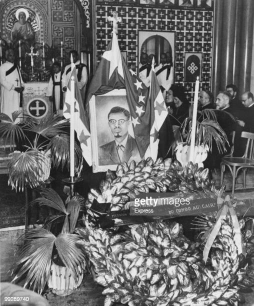 A requiem mass for murdered former Congolese Prime Minister Patrice Lumumba is held in Cairo 23rd February 1961 Lumumba was shot on 17th January 1961...