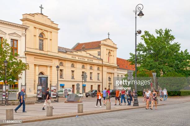 res sacra miser in warsaw - monastery warsaw stock pictures, royalty-free photos & images
