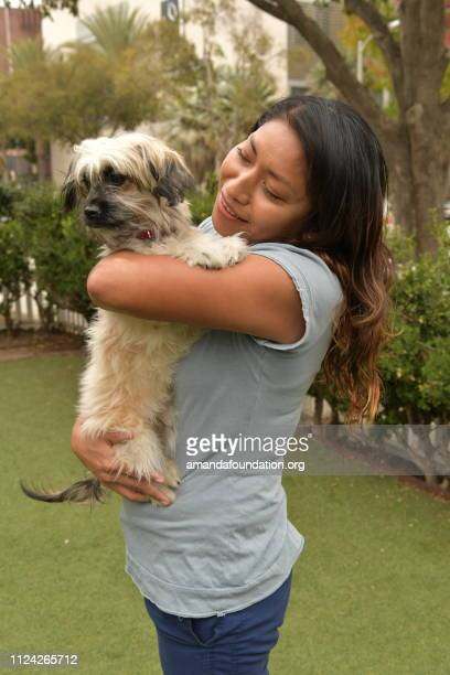 Rescue Animal - Shih Tzu mix puppy being held by a woman
