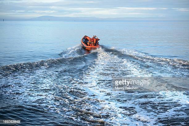 rescue boat training at nautical training facility - nautical vessel ストックフォトと画像