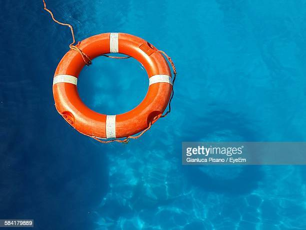 Rescue Buoy Floating On Water