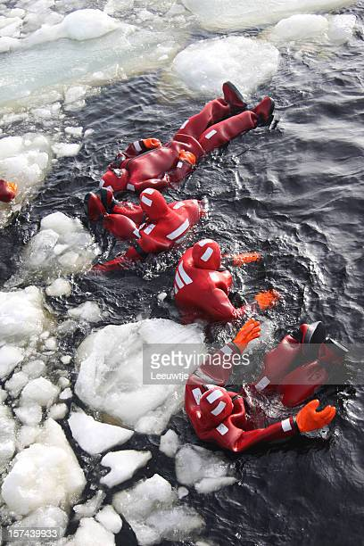 rescue drill survival in polar icy environment