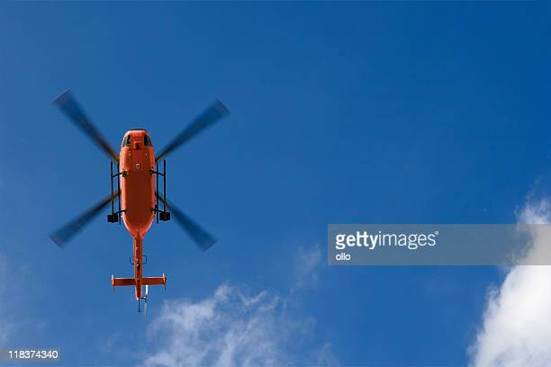 rescue helicopter - low angle view - medevac stock photos and pictures