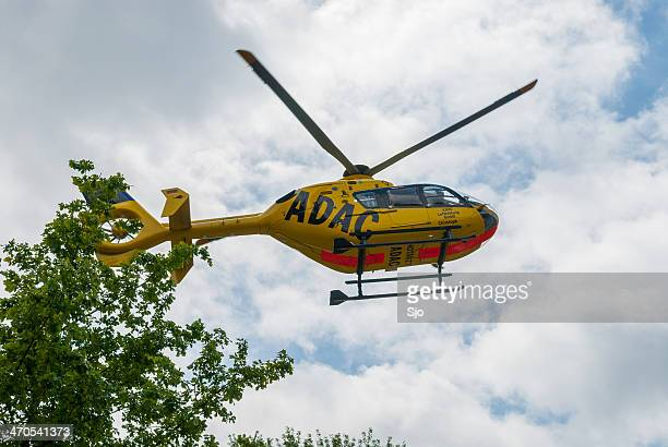 adac rescue helicopter - medevac stock photos and pictures