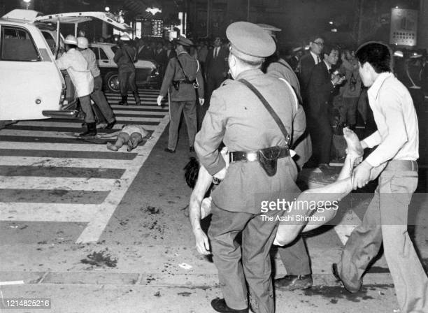 Rescue operation continues at Sennichi Department Store fire on May 13 1972 in Osaka Japan 118 People were killed by the fire