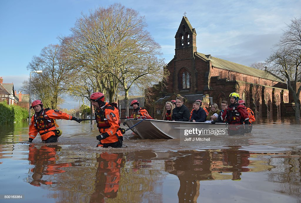 Storm Desmond, 2015 - Thousands of people were evacuated from their homes after Storm Desmond caused severe flooding in Cumbria and Lancashire.