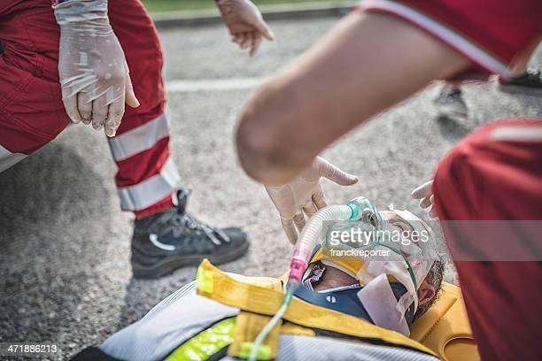 rescue team Leben zu retten