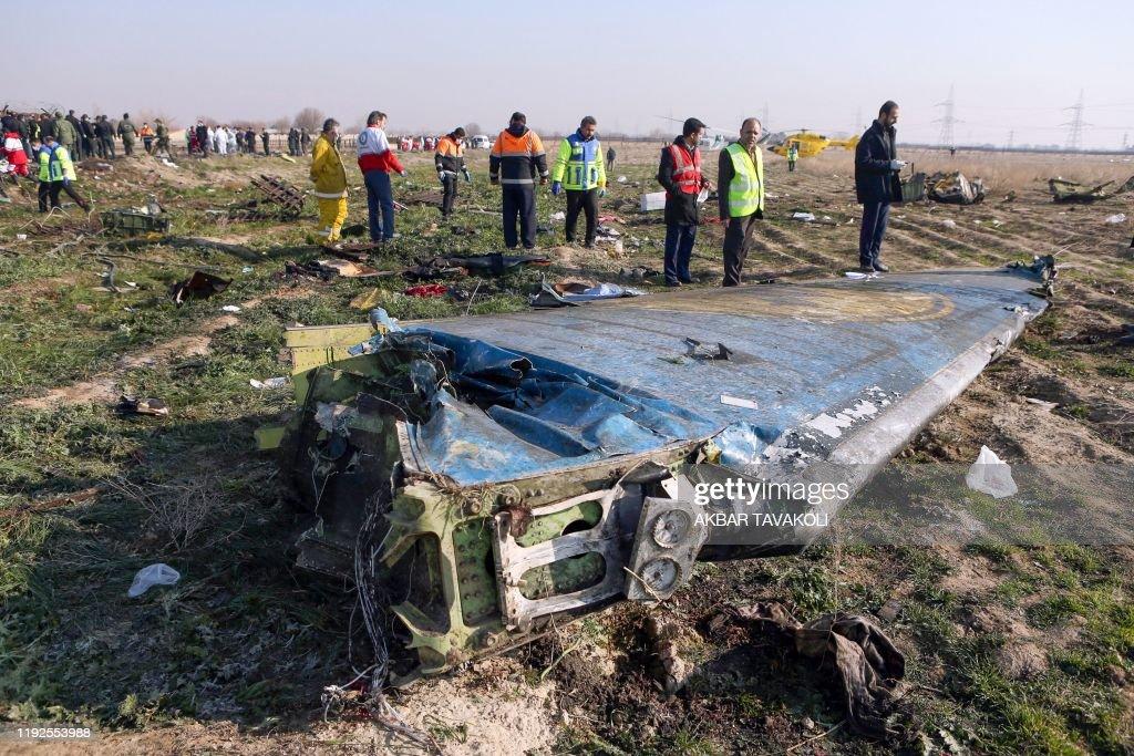 IRAN-UKRAINE-CANADA-AVIATION-ACCIDENT : News Photo