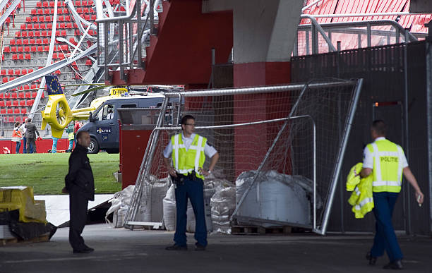 Fc Twente De Grolsch Veste Stadium Stand Collapses Photos