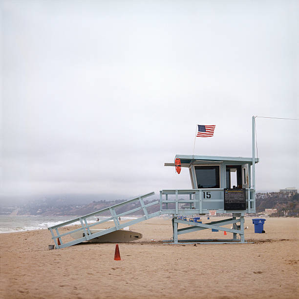 Rescue tower on the sea shore